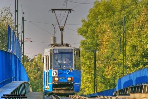 Stopiątka na wiadukcie nad ul. Prądnicką. Wkrótce ten widok przejdzie do historii.