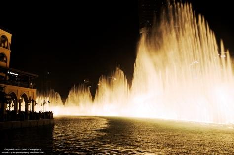 Fontanny w Dubaju.